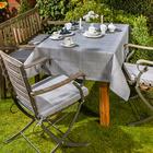 Tischdecke grau 130 x 160 cm