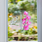 "Fenster-Thermometer ""Blüten"" rosa"