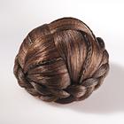 Haarzopf zum Anstecken, dunkelbraun