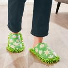 """Putz-Pantoffeln """"Blüten"""" grün, 1 Paar"""