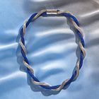 Halskette blau-silberfarben L 48 cm