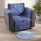 Sesselüberwurf blau