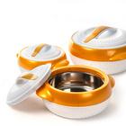 Thermoschüsseln gold-weiß, 3er-Set