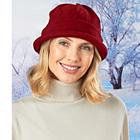 Fleece-Mütze bordeaux