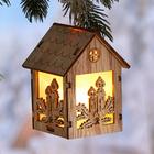 """LED-Holzhänger """"Haus"""""""