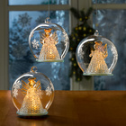 LED-Weihnachtskugel mit Engel