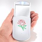 """LED-Taschenspiegel """"Rose"""""""