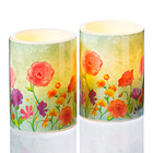 "LED-Kerze Frühlingsblumen"""