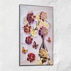 """3D-Wandbild """"Blumenvase"""""""