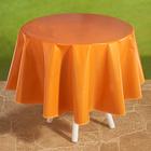 """Wachstischdecke """"Karo"""" orange Ø 140 cm"""