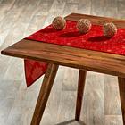 """Tischläufer """"Blüten"""" rot Casa Bonita, 40 x 140 cm"""
