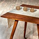 """Tischläufer """"Blüten"""" beige Casa Bonita, 40 x 140 cm"""