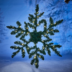 LED-Tannen-Schneeflocke