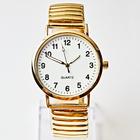 Armbanduhr groß gold
