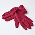 Handschuhe mit Schleife bordeaux