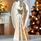 LED-Engel weiß